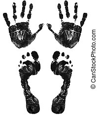 Hände und Füße drucken