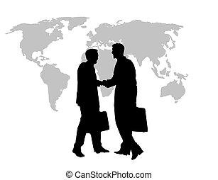Händeschütteln der Geschäftswelt