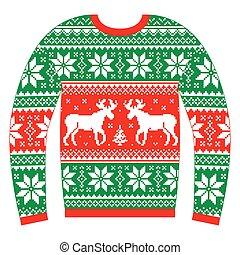 Hässlicher Weihnachtsspringer oder Pullover.
