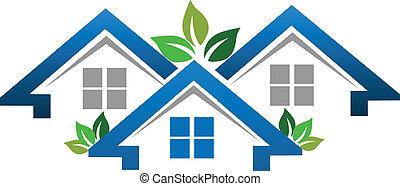 Häuser für das Immobilienunternehmen Logo.