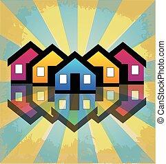 Häuser Immobilien Eigentumswohnungen Logo