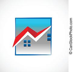 Häuser Immobilienlogo.