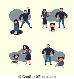 Häusliche Gewalt.