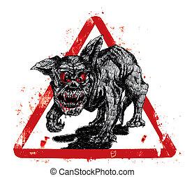 hölle, schwarzer hund