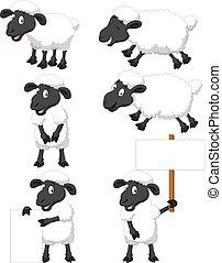 Hübsche Comic-Schafe-Sammlung.