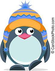Hübsche Hand gezeichnet Pinguin 3.