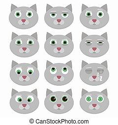 Hübsche Katzenemoticons.