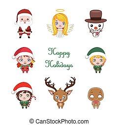 Hübsche kleine Weihnachtsfiguren.