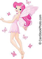 Hübsche rosa Fee.