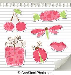 Hübsche rosa Sticker