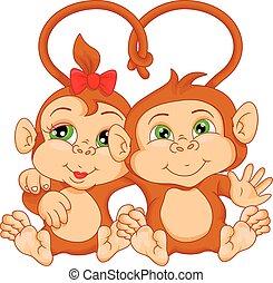 Hübsches Affenpaar.