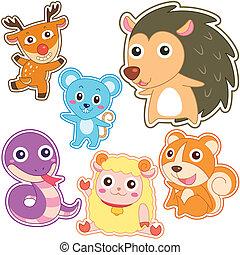 Hübsches Cartoon-Tier-Set