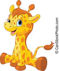 Hübsches Giraffenkalb.