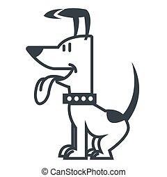 Hübsches Hunde-Cartoon-Ikone.