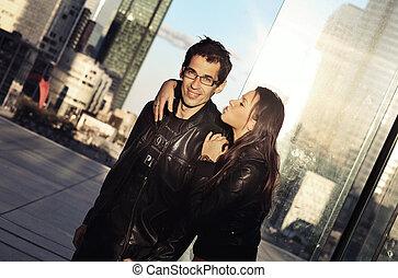 Hübsches junges, hübsches Paar