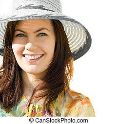 Hübsches Mädchen mit Hut