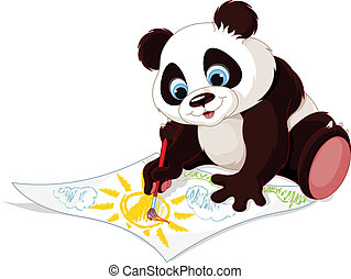 Hübsches Panda-Bild.