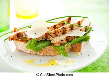 Hühnchen-Café-Sandwich