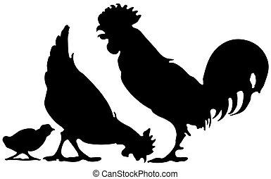 Hühnerfamilie