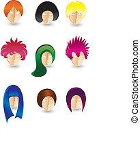 Haare stylingen
