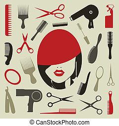 Haarstil eine Ikone