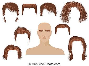 Haarstil. Gesicht und Haarschnitt