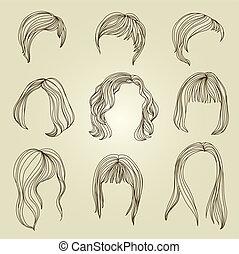 Haarstrumpf für Frauen.