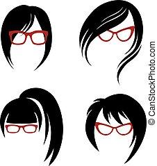 Haarstyling für Frauen.