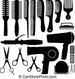 Haarzusatz-Silhouette Vektor