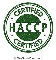 HACCP (Hazard-Analyse kritische Kontrollpunkte) Zeichen oder Stempel.