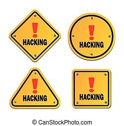 Hacken - Warnzeichen.