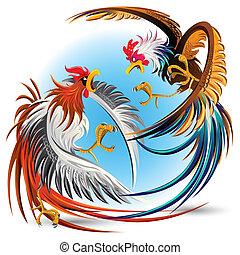 Hahnenkämpfe gegen Schwänze
