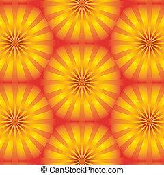 halftones, wabe, linien, hintergrund, sonne- strahlen, hintergrund., orange, form, gelber