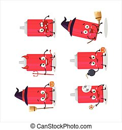 halloween, emoticons, zeichen, flasche, ketchup, karikatur, ausdruck
