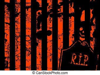 Halloween-Grange-Hintergrund