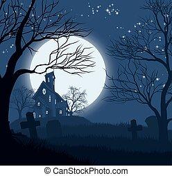 Halloween Haus Hintergrund.