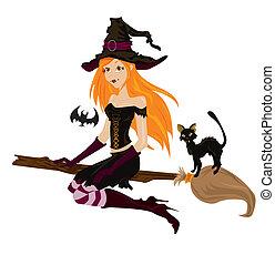 Halloween-Hexe.