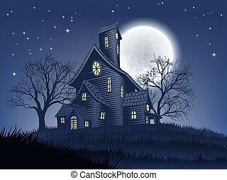 halloween, hintergrund, geisterbahn, umgehen