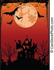 Halloween-Hintergrund mit Spuk