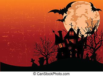 Halloween-Hintergrund mit Spuk H