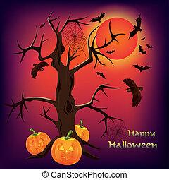 Halloween-Hintergrund, Vektor-Illustration