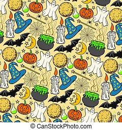 Halloween Icons nahtlose Muster ( Hintergrund)