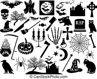Halloween-Ikonen bereit.