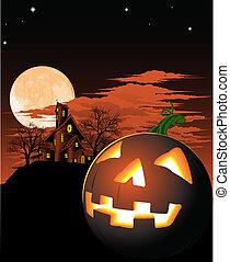 Halloween-Kürbis Hintergrund