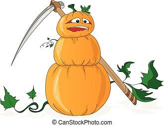 Halloween Kürbis Illustration ist isoliert.