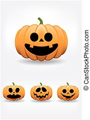 Halloween-Kürbis-Set.