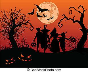 Halloween-Kinder.