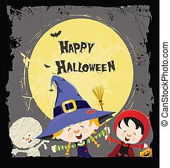 Halloween-Kinderkarte