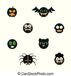 Halloween Monster Illustration.
