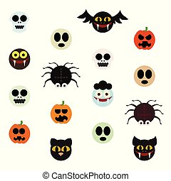 Halloween-Monster sind bereit.